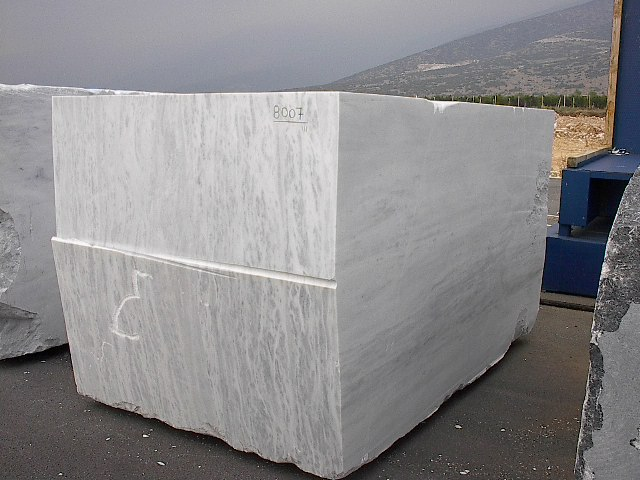 White Marble Block : Topalidis marble granite from greece